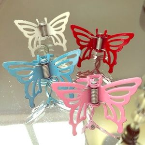 Hair clips Lot Butterfly